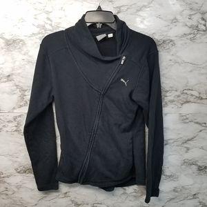Puma Womens Zip Sweater Sz S Black #34